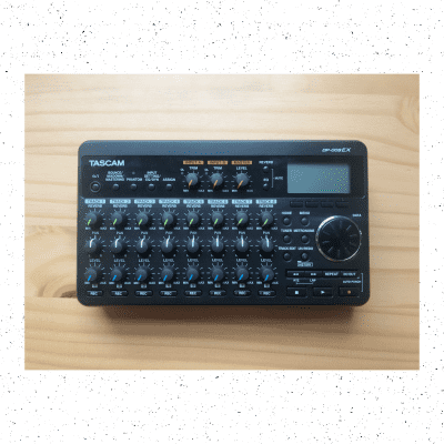 Tascam DP-008EX 8-track Digital Portastudio with Built-In Stereo Microphones, Power Cable, 4GB SD