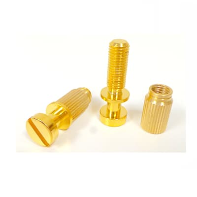 Schaller Pair of studs and inserts (metric) for Stop tailpiece - Gold 22210500