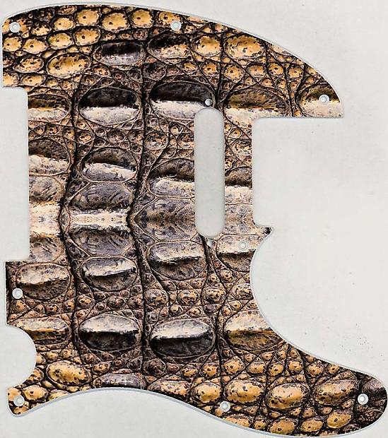 Graphical pickguard Fender Telecaster Tele Standard 8 Hole Crocodile Skin