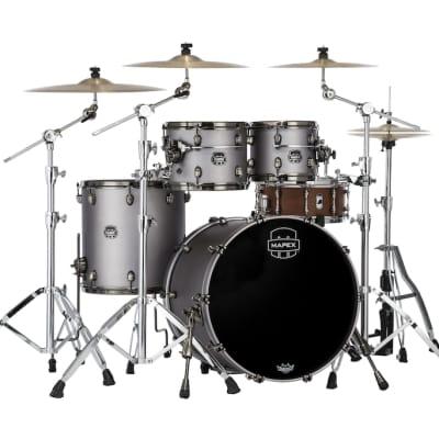 Mapex Saturn Evolution Rock 4 Pc Maple Drum Set Without Snare - 22/10/12/16 - Gun Metal Grey