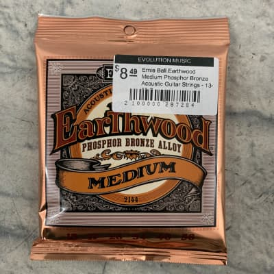 Ernie Ball Earthwood Medium Phosphor Bronze Acoustic Strings 13 - 56