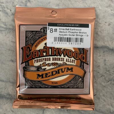Ernie Ball Earthwood Medium Phosphor Bronze Acoustic Guitar Strings - 13-56 Gauge
