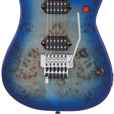 EVH 5150 Series Deluxe Poplar Burl Ebony Fingerboard Aqua Burst for sale