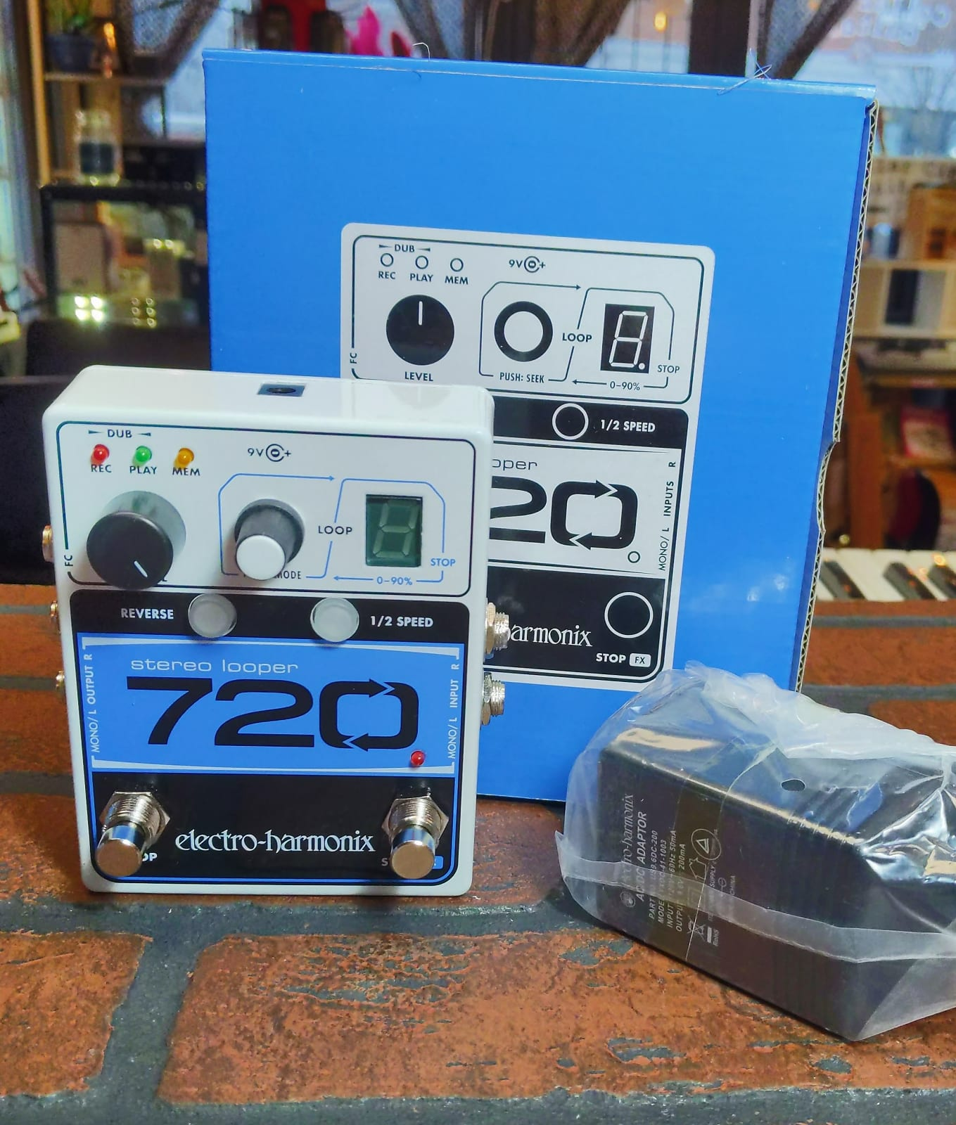 1//2 Speed Electro-Harmonix EHX Stereo Looper 720 Guitar Effect Pedal Reverse
