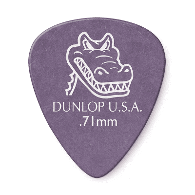 Dunlop 417R71 Gator Grip Standard .71mm Guitar Picks (72-Pack)