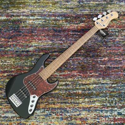 Sadowsky MetroLine 21-Fret Vintage J/J Bass - Red Alder Body-5 String - Solid Black High Polish