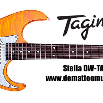 Tagima Stella DW-TAMB 6-String Electric Guitar, Color: Transparent Orange Fade for sale