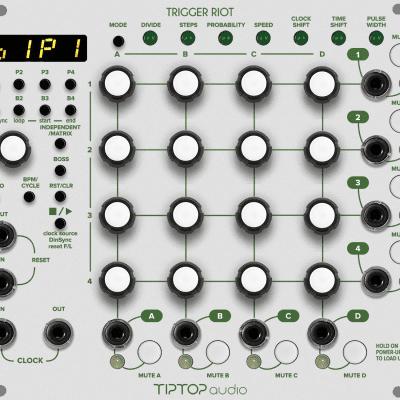 Tiptop Audio Trigger Riot Sequencer Eurorack Module, White