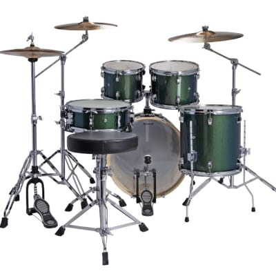Ludwig Element Evolution 5pc Drum Set with Zildjian I Series Cymbals - 20 Set - Emerald Sparkle