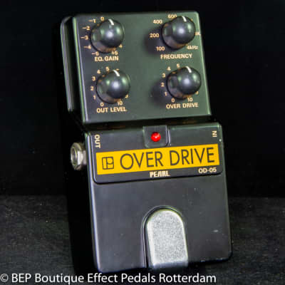 Pearl OD-05 Overdrive mid 80's  s/n 500802 Japan with two JRC4558 chips for sale
