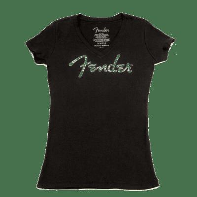 #9102002506 - Fender® Ladies Distressed Logo T-Shirt, Black, L