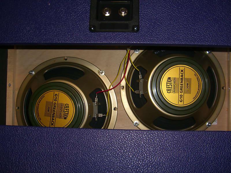 2x10 speaker guitar slant cabinet 16 ohm speaker open back reverb. Black Bedroom Furniture Sets. Home Design Ideas