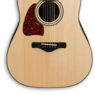 Ibanez Lefty Artwood AW400L Dreadnaught Acoustic Guitar - Natural (054) for sale