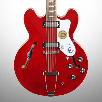 Epiphone Exclusive Riviera Electric Guitar, 12-String, Cherry, Mint for sale