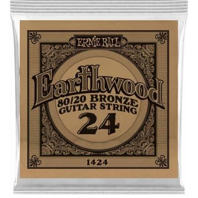 Ernie Ball P01424 .024 Earthwood 80/20 Bronze Acoustic Guitar String