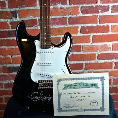 Eleca Strat Autographed Eric Clapton 2004 Black for sale