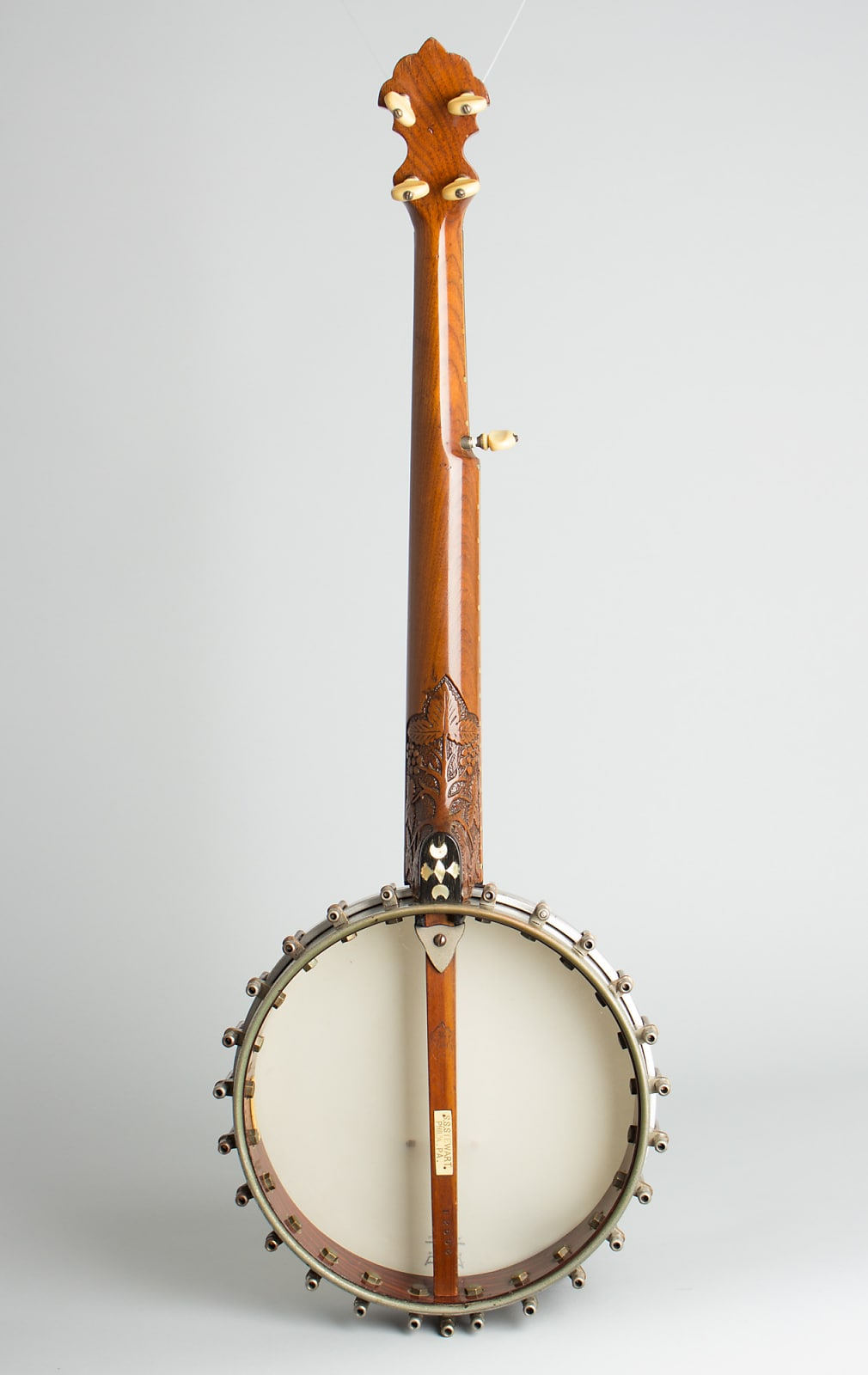 S. S. Stewart  American Princess #3 5 String Banjo (1892), ser. #12506, black gig bag case.