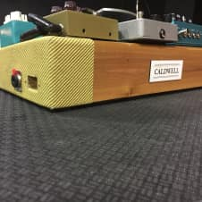 Caldwell  Tweed and blonde 12x24 pedal board 2015