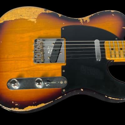 2020 Fender Nocaster 1952 Custom Shop Tele ~ Heavy Relic 2 Tone Sunburst for sale