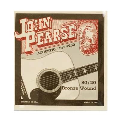 John Pearse 200L 80/20 Bronze Light 12-53 Acoustic Strings