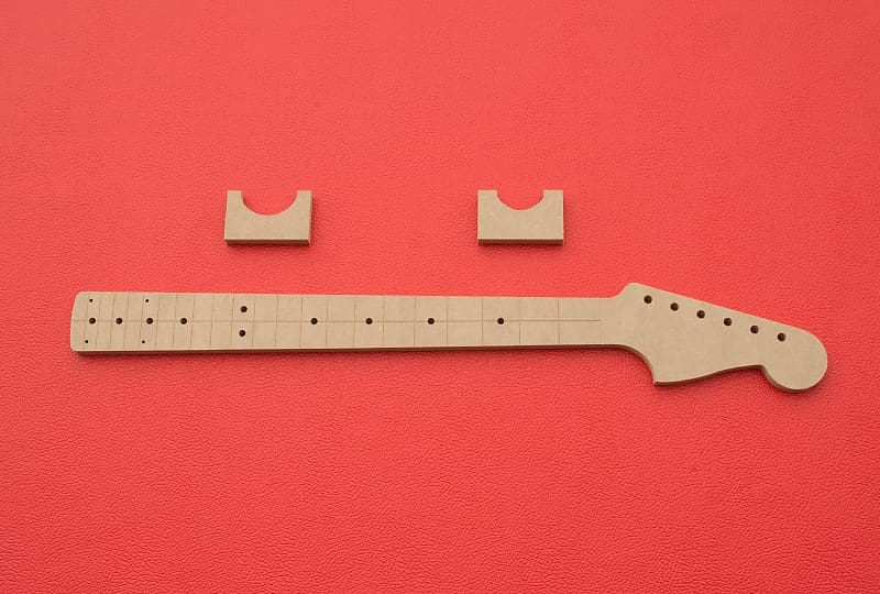 Jazzmaster Guitar Neck Router Template W Back Profiles CNC 1 2MDF