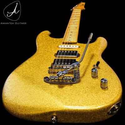 Amantea Guitars  Stratocaster sparkle gold 2021 Polyacrylic sparkle gold