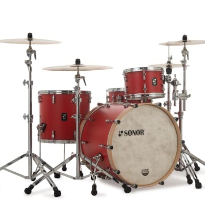 """Sonor SQ1 3pc Shell Pack w/ 20"""" Bass Drum Hot Rod Red"""
