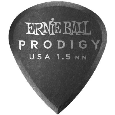 Ernie Ball Prodigy Picks - 1-1/2 mm, Mini, Black, 6 Pack for sale