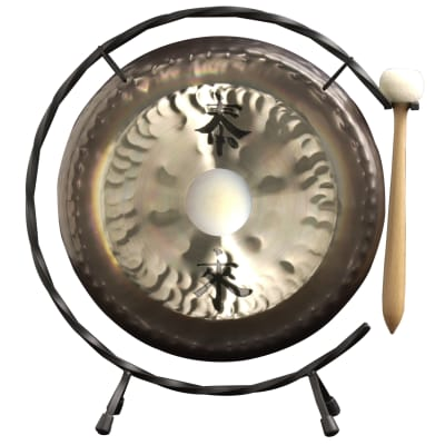 """Paiste 10"""" Deco Gong with Chinese Signs"""