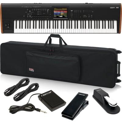 Korg Kronos 2 88-key Synthesizer Workstation, Gator GK-88 Case, Sustain Pedal, Nektar NX-P, Nektar NP1, (2) 1/4 Cables Bundle