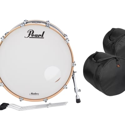 Pearl Masters Complete 24x14_13x9_16x16 Quicksilver Black Shell Pack +FREE Bags   Authorized Dealer