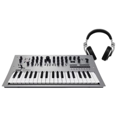 Korg Minilogue Analog Polyphonic Synthesizer, 37-Key, With Pioneer DJ HDJ-X5S Headphones