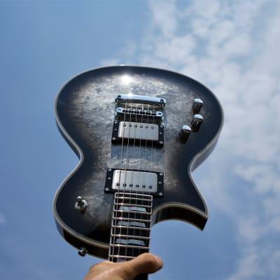 ESP Custom Shop Original Eclipse Custom Silver Liquid Metal Burst Left-Handed 6-String w/Case 2021 for sale