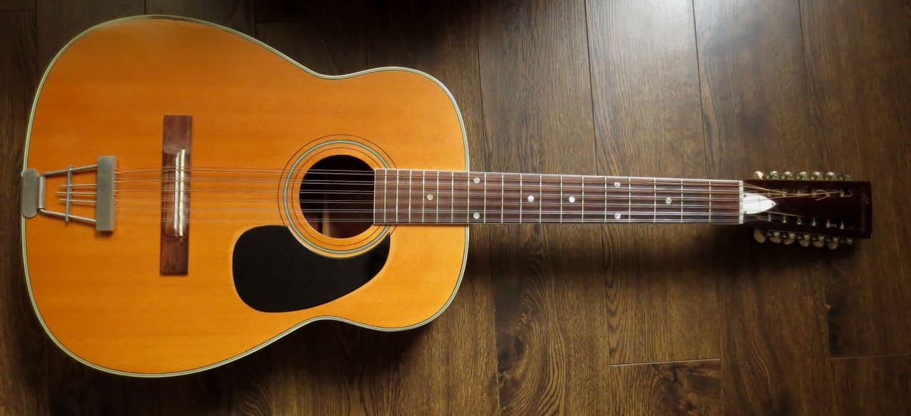Harmony H1270 12 String Sovereign Acoustic Guitar Usa Reverb