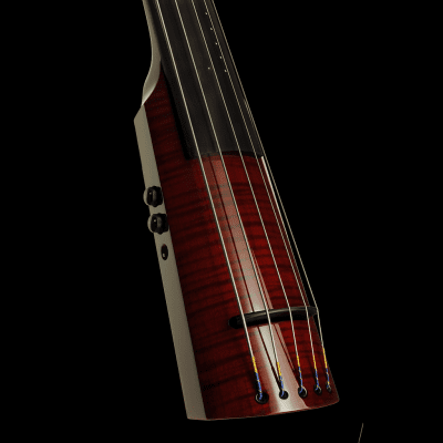 NS Design WAV5c Electric Upright Bass Transparent Red