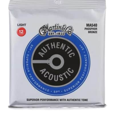 Martin Authentic Superior Performance Acoustic Guitar Strings - 92/8 Phosphor Bronze Light