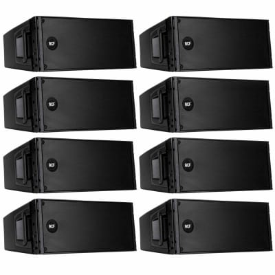 RCF (8) RCF HDL 20-A Active Line Array Module Speakers Package
