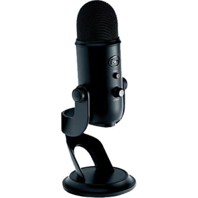 Blue Microphones Yeti Blackout Professional Multi-Pattern USB Mic for Recording & Streaming (B-Stock)