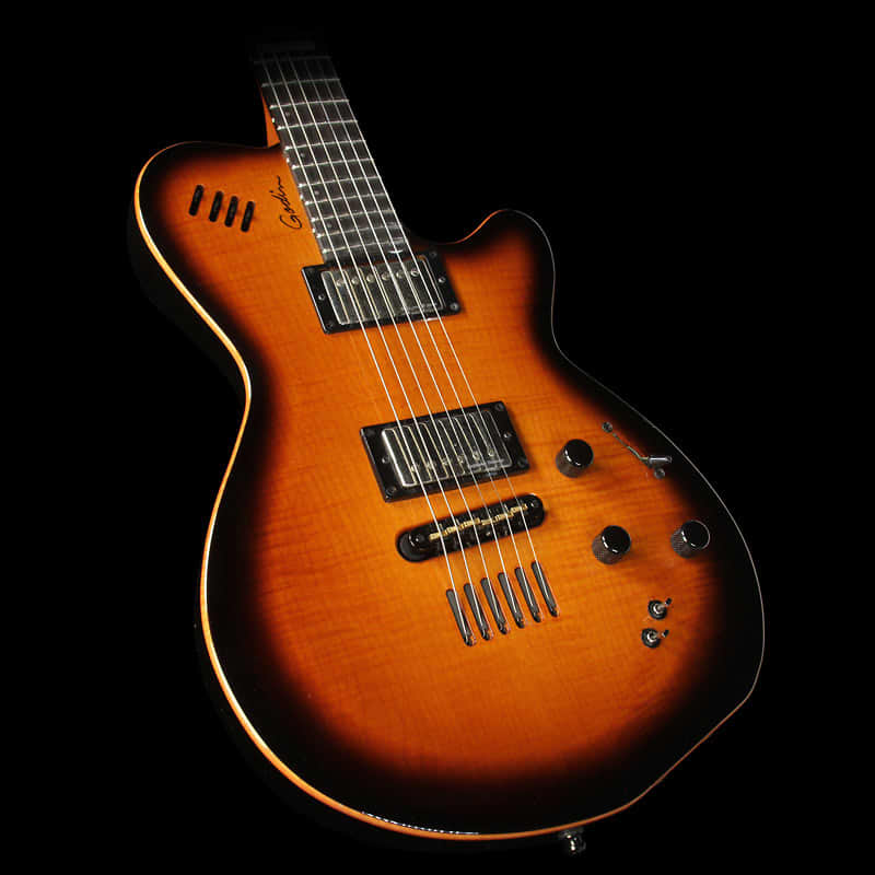 used 2015 godin lgx sa aa flame top electric guitar cognac reverb. Black Bedroom Furniture Sets. Home Design Ideas