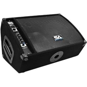 "Seismic Audio FL-10MP-PW Powered 1x10"" 2-Way 250w Floor Monitor Wedge Speaker"