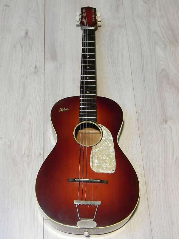 small vintage HÖFNER Hofner 522 parlor Jazz Blues GUITAR Gitarre Germany 1950 image