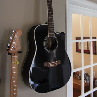 Takamine EF381SC BLK 12-String Dreadnought Cutaway Acoustic/Electric Guitar
