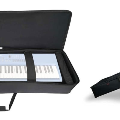 Rockville 61 Key Keyboard Case w/ Wheels+Trolley Handle For Yamaha MX61