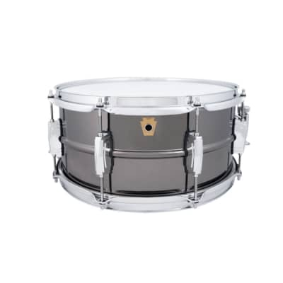 "Ludwig LB415 Black Beauty 6.5x14"" 8-Lug Brass Snare Drum"
