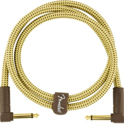 Fender Deluxe Series Instrument Cable, Angle/Angle, 3', Tweed