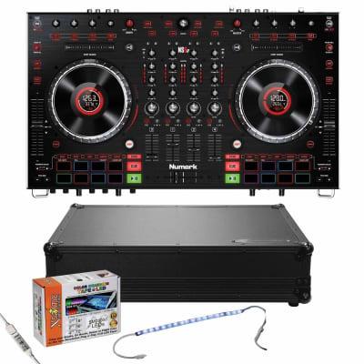Numark NS6II 4-Channel Premium DJ Controller & Black Glide Style Case Package