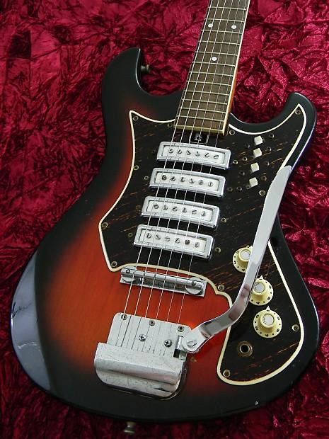 TEISCO Sunburst Vintage 1968 Four Pickup Tremolo EG Guitar | Reverb