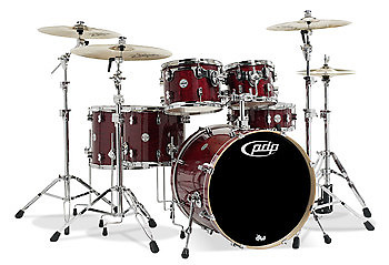 Concept maple by dw cherry stain lacq chrome hw 6 pcs for 16 x 12 floor tom