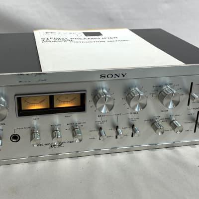 Sony TA-2000F Stereo Preamplifier 1970's Silverface