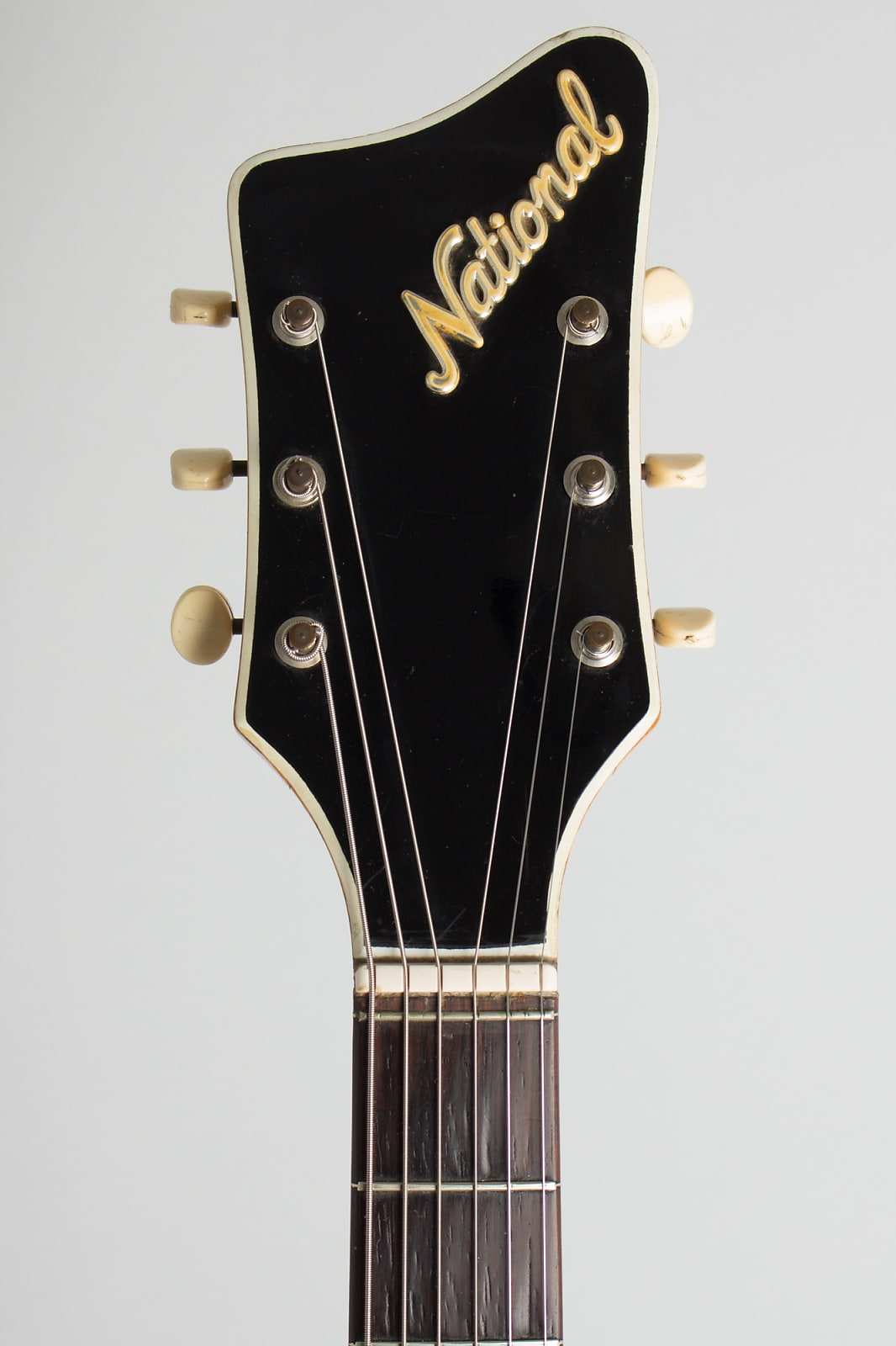 National  Studio 66 owned and used by Elliott Sharp Semi-Hollow Body Electric Guitar (1961), ser. #T-74352, black gig bag case.